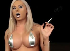 Eva Silver Smoking