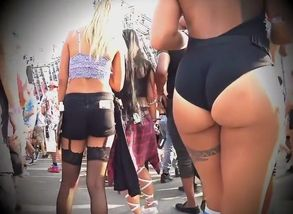 Thick arse dame filmed on the street..