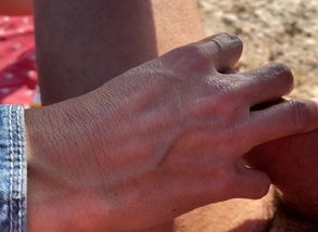 Hand job in the beach