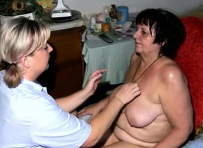 Mature Gets A Rubdown From Her Nurse