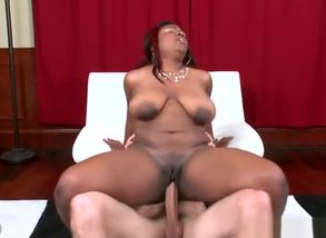 Epic huge-boobed ebony Selenna is..