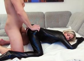german bi-atch in a catsuit