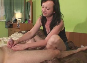 Maya milking him with 2 cum-shots
