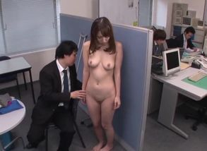 Dark-haired Japanese with huge melons..