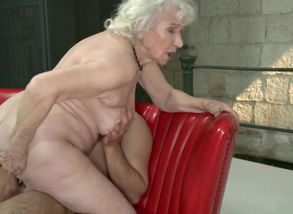 Granny Norma has hairless poon and 2..