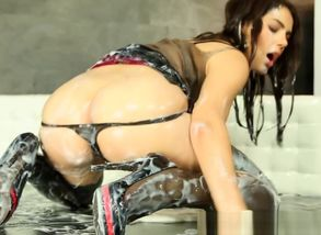 Valentina Nappi caked with mass..