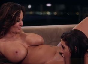 Huge-titted Stepmom Reaches Climax..