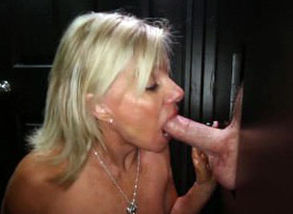 Gloryhole Secrets Mature blond..