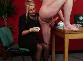 CFNM female dominance medic milking..