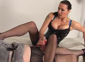 Instructing Sissy To Smoke Sole Nylon..