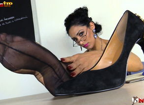 Professor in tights strap dildo JOI