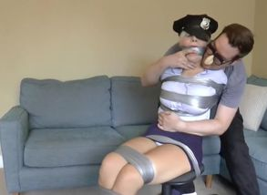 brdrlnds police female duct taped up..