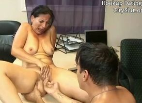 Sizzling boink with handsome cougar milf