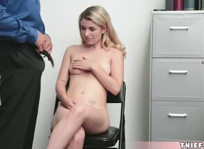 Adorable blond thief abby adams banged..