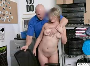 Shoplifter aria carson gets on all..