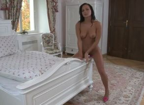 Nataly pinkish faux-cock fun rail..